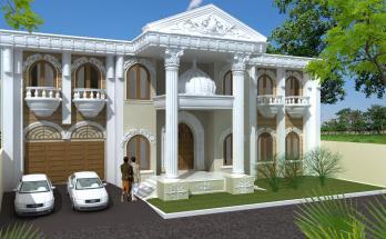 Desain Rumah Mediterania Mewah 2 Lantai 3