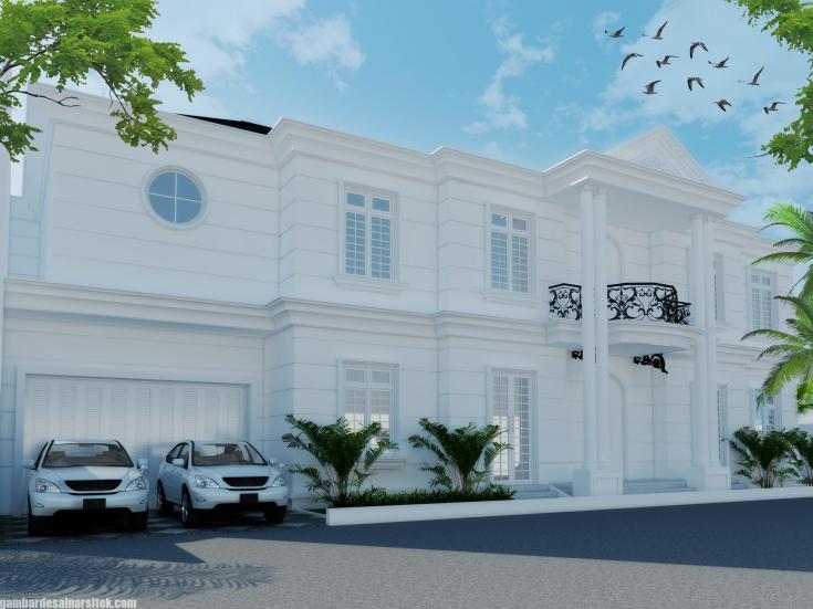 Desain Rumah Mediterania Mewah 2 Lantai (4)