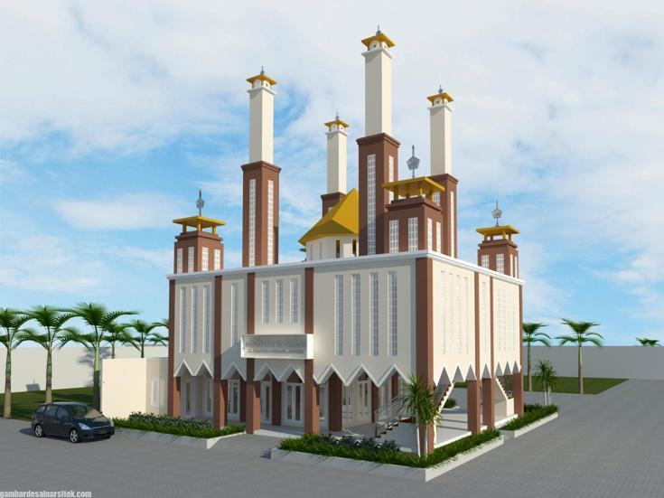 Desain masjid Minimalis Modern (8)