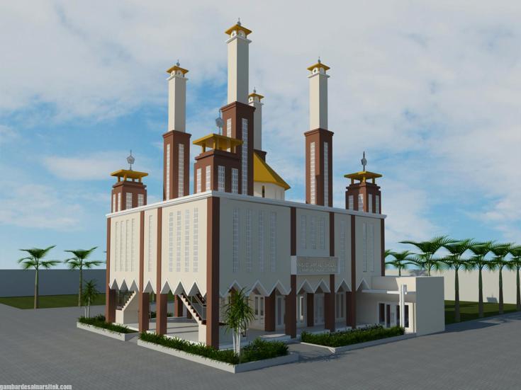 Desain masjid Minimalis Modern (9)