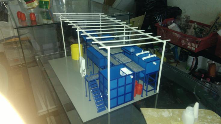 Maket Arsitektur Miniatur Model 36 Permesinan Pengolahan Limbah (20)