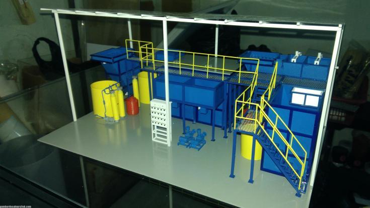 Maket Arsitektur Miniatur Model 36 Permesinan Pengolahan Limbah (26)