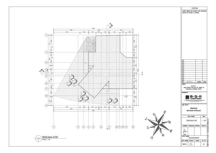 Jasa Desain Rumah Contoh Paket Gambar Kerja 03 RENCANA ATAP