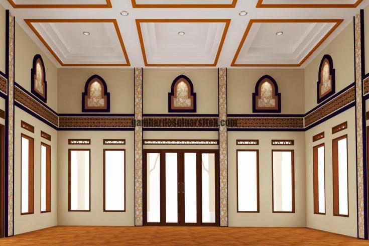 Desain Interior Masjid Minimalis 2