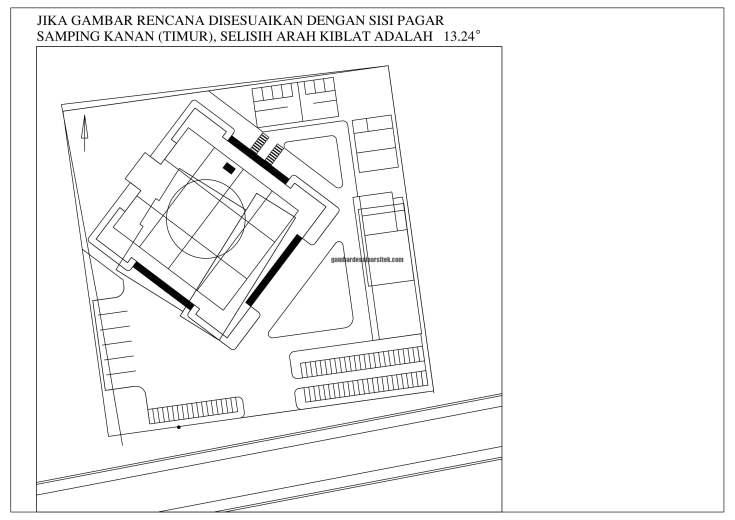 Desain Siteplan Masjid Penyesuaian Gambar Rencana dan Situasi Lokasi 2 1