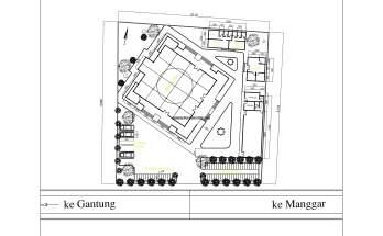 Desain Siteplan Masjid Penyesuaian Gambar Rencana dan Situasi Lokasi 3