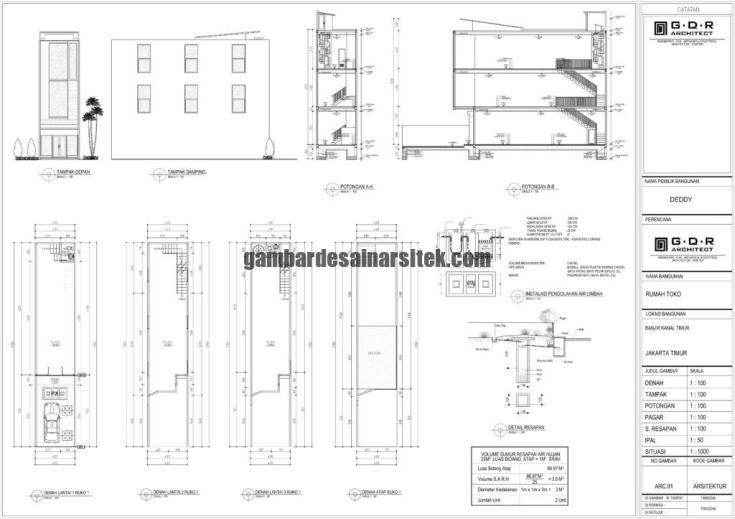 Gambar IMB Ruko Model 1