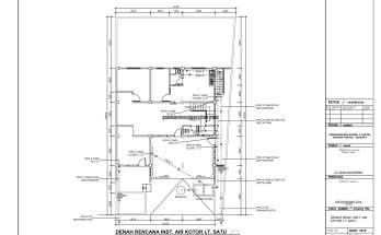 Gambar Kerja 2D Rumah 2 Lantai Tropis INSTALASI AIR KOTOR 1 1