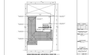 Gambar Kerja 2D Rumah 2 Lantai Tropis INSTALASI AIR KOTOR RT 1