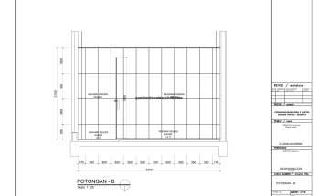Gambar Kerja 2D Rumah 2 Lantai Tropis POTONGAN TOILET 1 2
