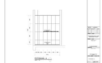 Gambar Kerja 2D Rumah 2 Lantai Tropis POTONGAN TOILET 1 3