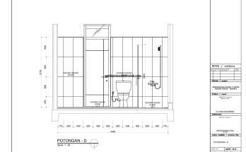 Gambar Kerja 2D Rumah 2 Lantai Tropis POTONGAN TOILET 1