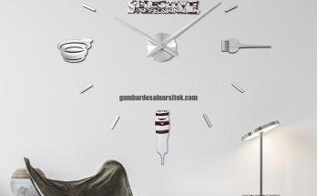 Jam Dinding Raksasa DIY Seni Dinding Model Barber Shop Gunting Salon Kecantikan