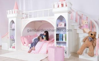 Tempat tidur tingkat menggemaskan untuk saudara perempuan