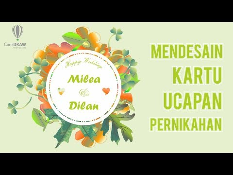 Download Video Floral Wedding Invitation Belajar Coreldraw