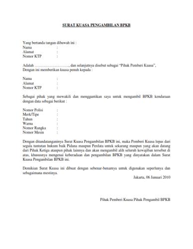 17++ Contoh surat kuasa xl terbaru yang baik