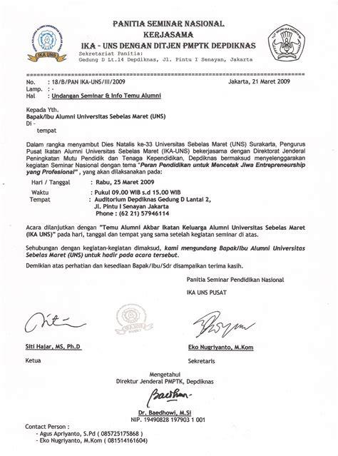 Contoh Surat Undangan Reuni Non Formal Tygpress