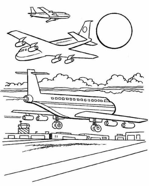 Mewarnai Gambar Pesawat Tempur : mewarnai, gambar, pesawat, tempur, Contoh, Gambar, Lomba, Mewarnai, Pesawat, KataUcap