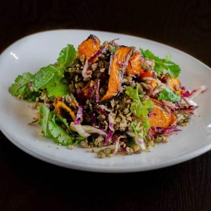 Carrot Lentil Dukkah Salad