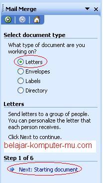 cara menggunakan mail merge pada microsoft word