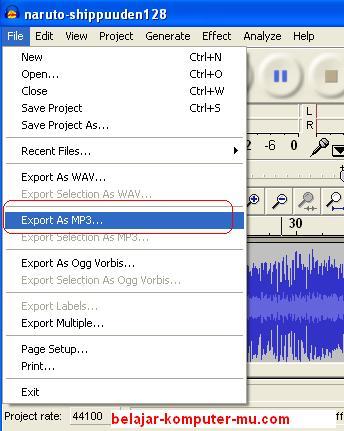 Cara mengecilkan Lagu - Kompres lagu mp3 dengan Audacity