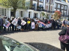 April 2016 protest held in London at Gambia embassy building