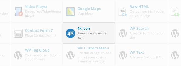 4k Icon element in WPBakery Page Builder