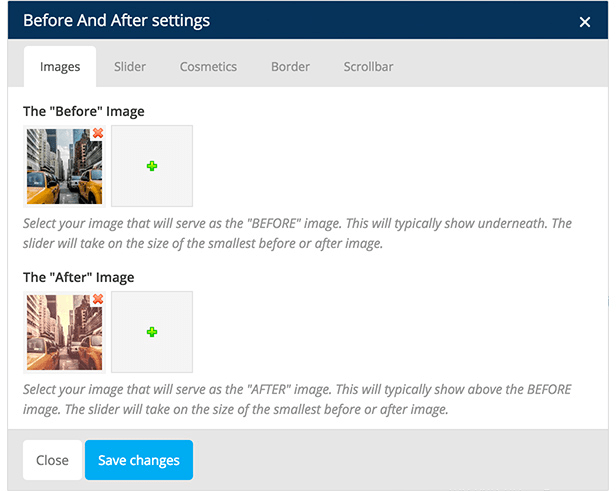 Before & After Image Slider for Visual Composer 6