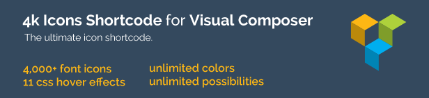 4k Icons add-on for Visual Composer