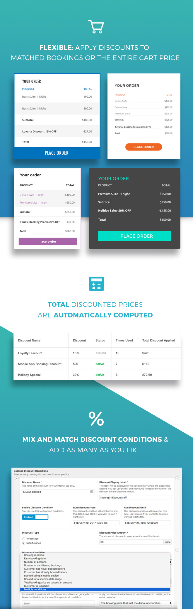 Try out WooCommerce Conditional Booking Discounts in a live environment first before you buy
