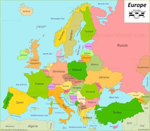 Europe - Map