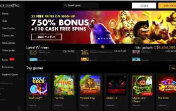 Black Diamond Casino - 25 free spins + 675% deposit bonus