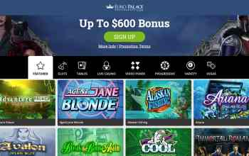 Euro Palace Casino - claim up to $600 in deposit bonus