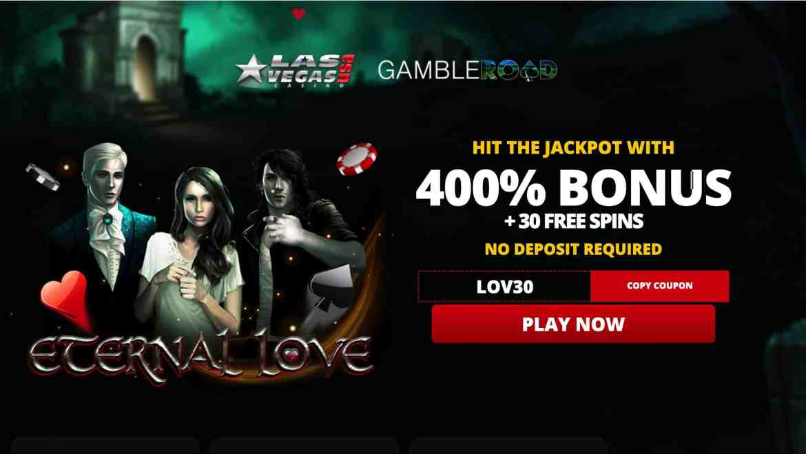 Las Vegas USA – 400% welcome bonus + 30 spins
