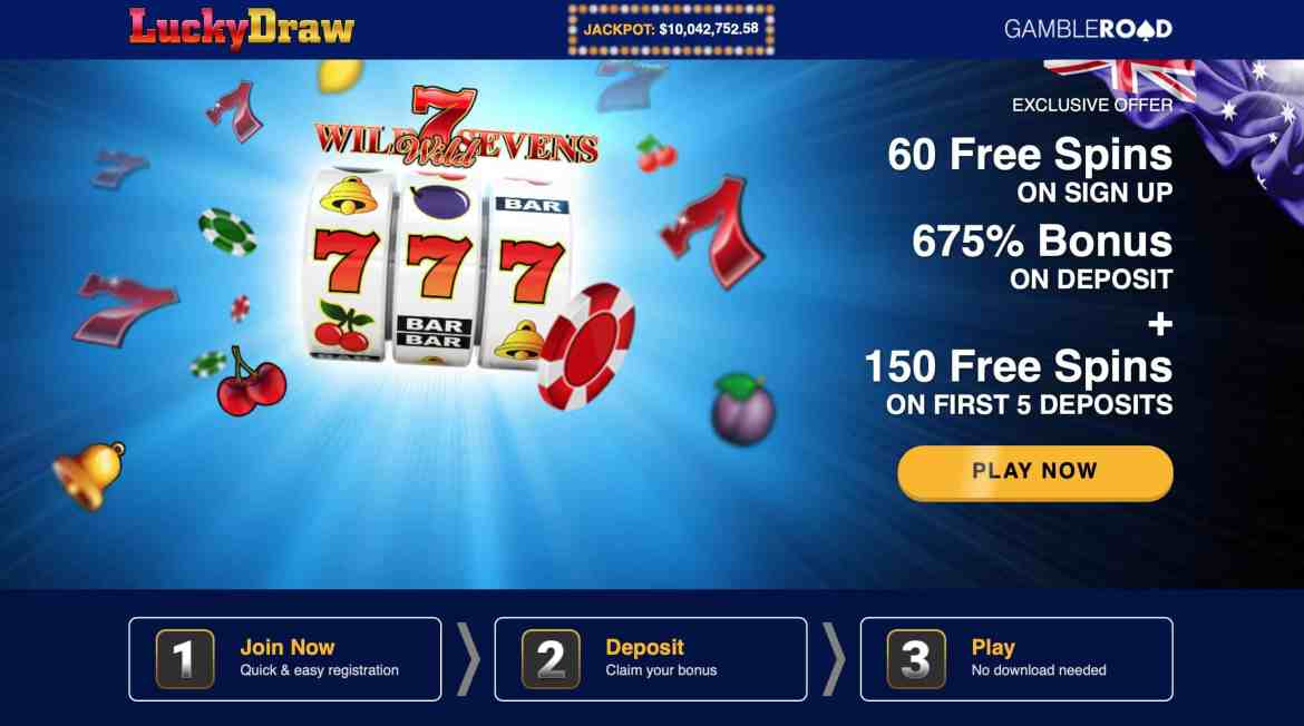 Luckydraw Casino : 60 Free Spins On Signup + 675% On Deposit
