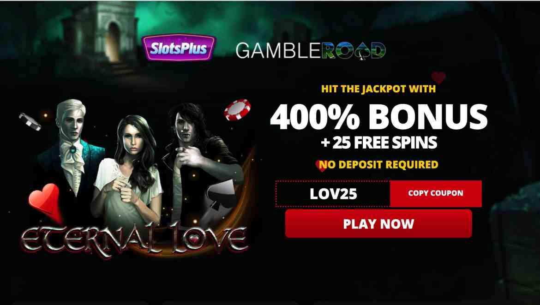 Slots Plus Casino –  get 400% match bonus + 25 free spins