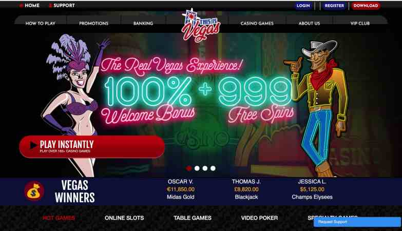 This Is Vegas Casino : get 100% welcome bonus + 999 free spins
