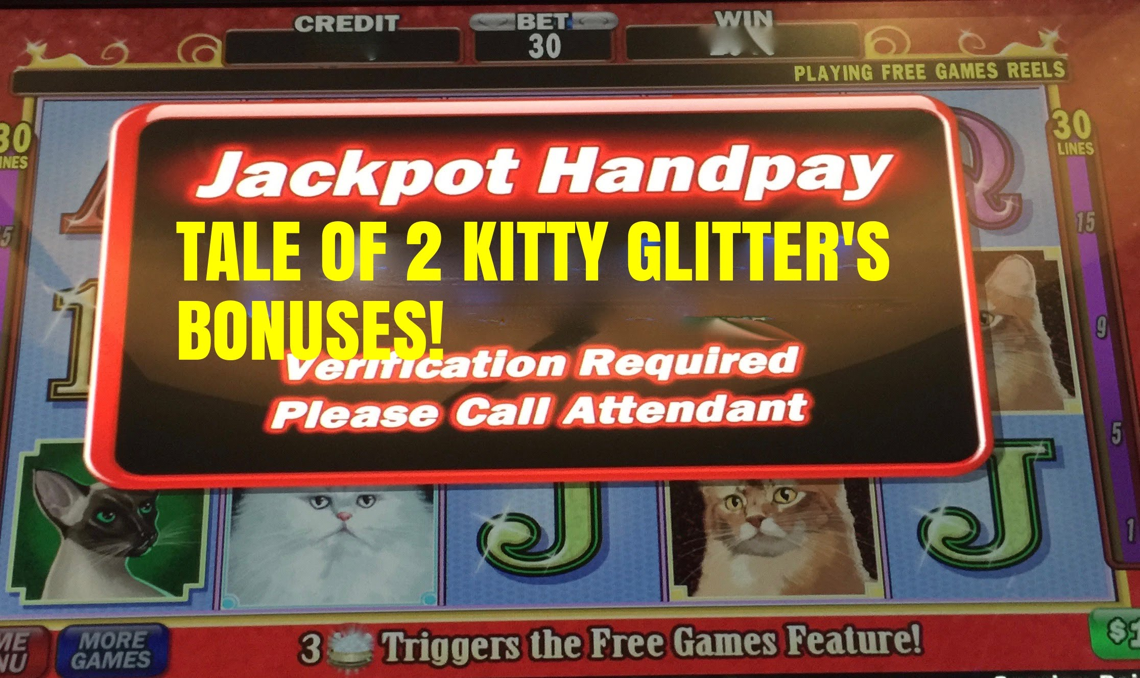 Jackpot Handpay Kitty Glitter Slot Machine Live Play