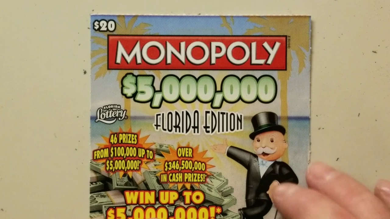 SAVED BY MONOPOLY! $20 FLORIDA LOTTERY SCRATCH OFF!