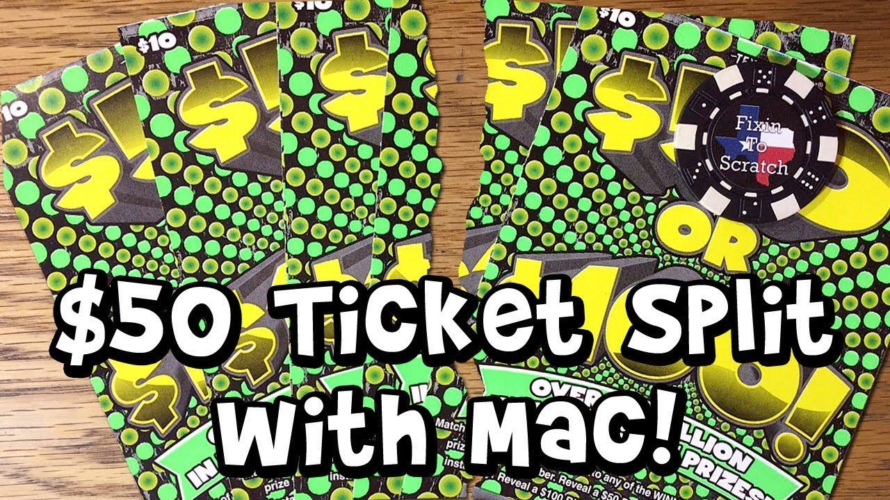 $50 Split! 5X $50 or $100! TEXAS LOTTERY Scratch Off Tickets