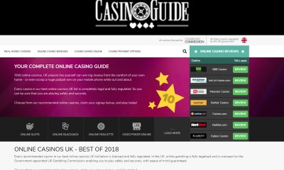 Online casino comparison site CasinoGuide relaunches with new design, new features, and new content