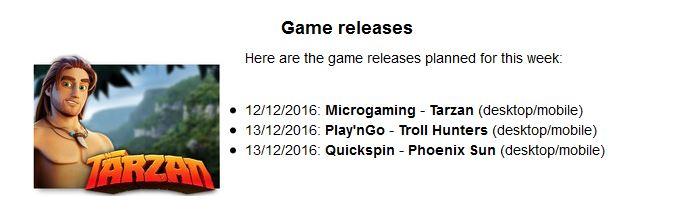 Tarzan game release