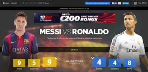 MessiVsRonaldo.net index page