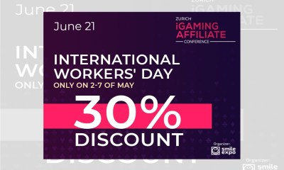 Celebrating the International Workers' Day: 30% Discount on Zurich iGaming Affiliate Conference Tickets!