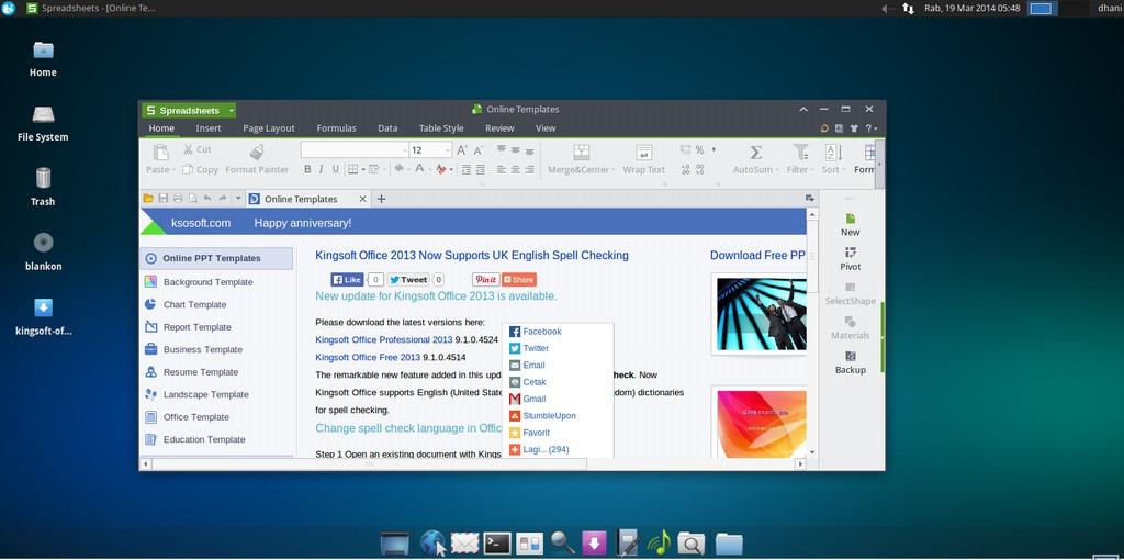 How to install Kingsoft Office on Xubuntu 13 10 - Tutorial
