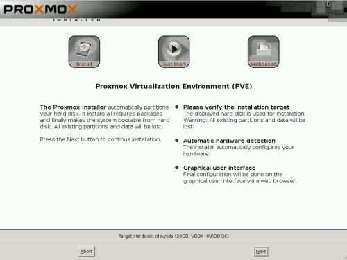 install proxmox 3.2 -3