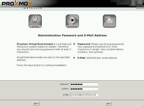 install proxmox 3.2 -5