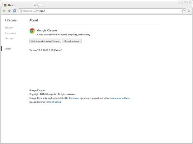google chrome fedora 21