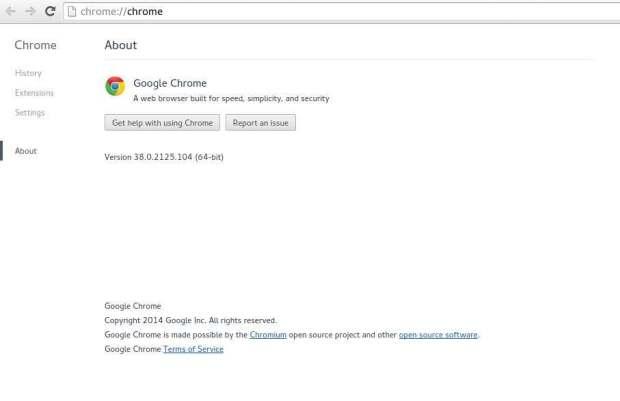 google chrome on opensuse