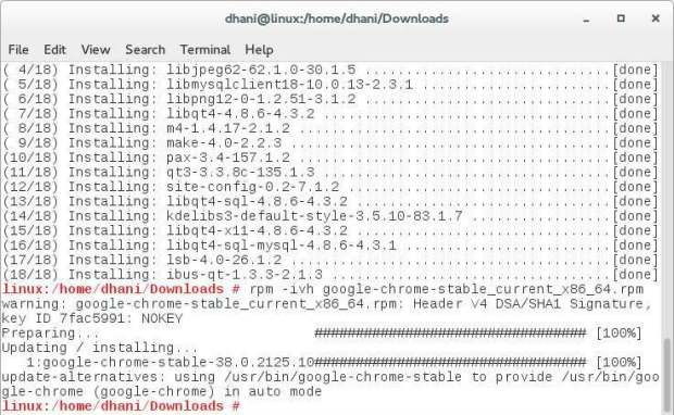 install chrome on opensuse 13.2